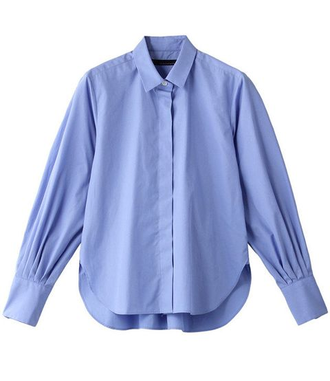Clothing, Blue, Sleeve, Collar, Shirt, Blouse, Purple, Violet, Outerwear, Top,