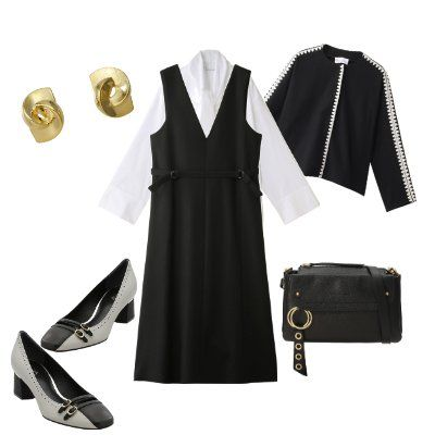 Clothing, Black, White, Little black dress, Dress, Fashion, Footwear, Sleeve, Formal wear, Outerwear,