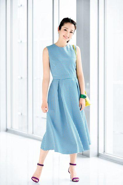 Clothing, Dress, White, Fashion model, Day dress, Blue, Fashion, Pattern, Turquoise, Pattern,