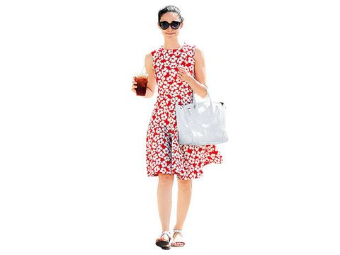 Eyewear, Product, Dress, Shoulder, Standing, Joint, Sunglasses, White, One-piece garment, Style,