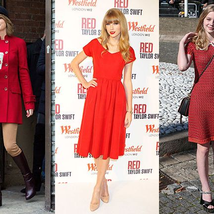 Clothing, Leg, Hat, Dress, Sleeve, Red, Outerwear, Pattern, Fashion accessory, Style,