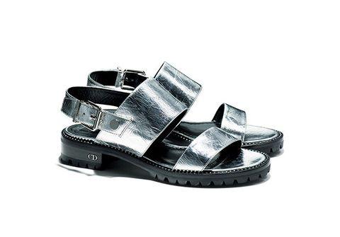 Footwear, Product, Tan, Sandal, Beige, Silver, Slide sandal, Fashion design, Natural material, Brand,