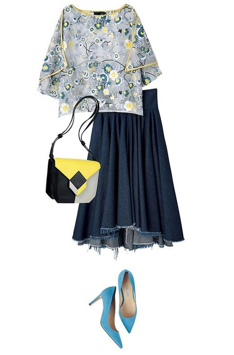 Clothing, Blue, Product, Yellow, Sleeve, Textile, White, Style, Pattern, Electric blue,