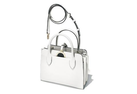 Bag, Handbag, White, Shoulder bag, Fashion accessory, Material property, Satchel, Luggage and bags, Beige, Silver,