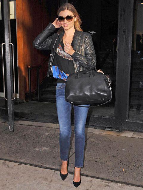 Jeans, Clothing, Leather, Leather jacket, Street fashion, Jacket, Denim, Fashion, Shoulder, Footwear,