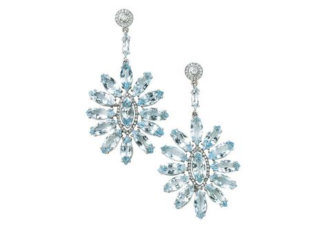 Jewellery, Body jewelry, Fashion accessory, Aqua, Diamond, Gemstone, Earrings, Crystal, Silver, Silver,