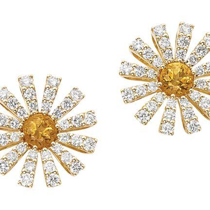 Yellow, Amber, Pattern, Metal, Brooch, Beige, Body jewelry, Design, Circle, Silver,