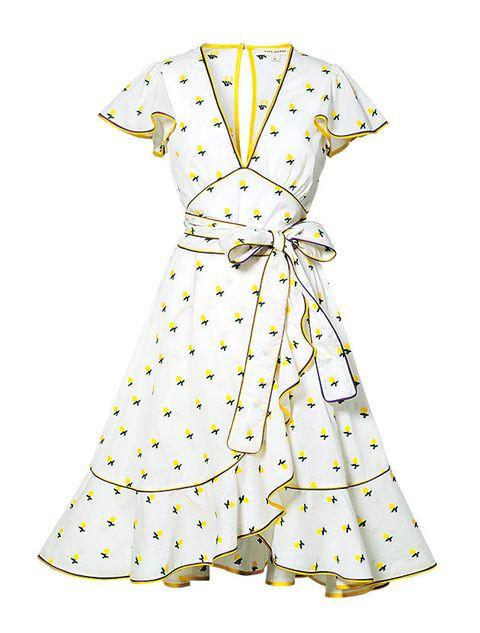 Yellow, Collar, Sleeve, Dress shirt, Pattern, Textile, White, Line, Style, Formal wear,