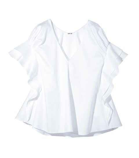 Clothing, White, Sleeve, Blouse, Collar, Outerwear, Neck, Top, Shirt, Ruffle,