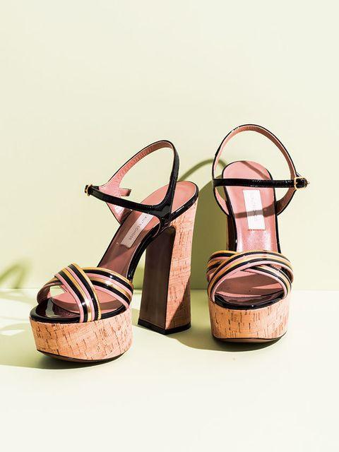 Footwear, Sandal, Shoe, Slingback, Tan, Brown, High heels, Beige, Wedge,