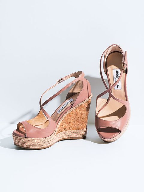 Footwear, Shoe, Sandal, High heels, Tan, Beige, Wedge, Peach,