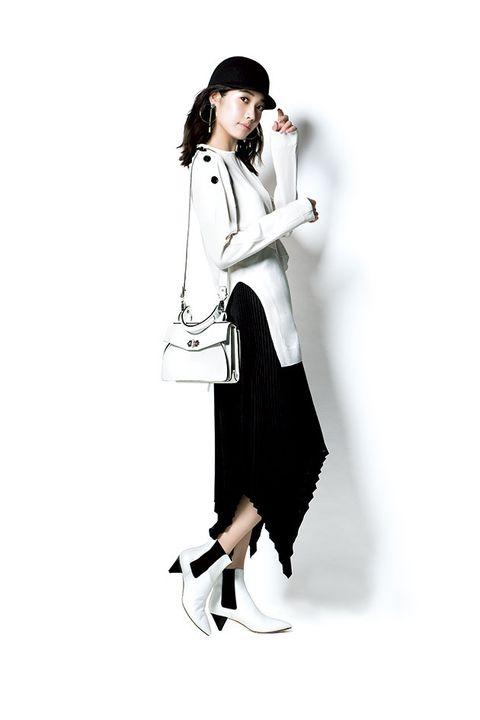 Clothing, White, Fashion, Shoulder, Footwear, Outerwear, Joint, Coat, Neck, Uniform,