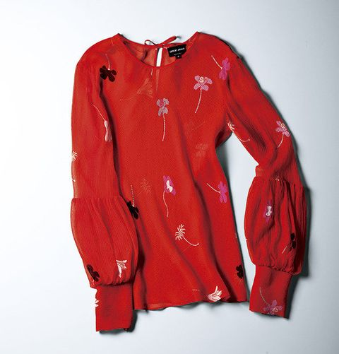 Clothing, Red, Outerwear, Sleeve, Jacket, Material property, Textile, Sportswear, Coquelicot, Top,