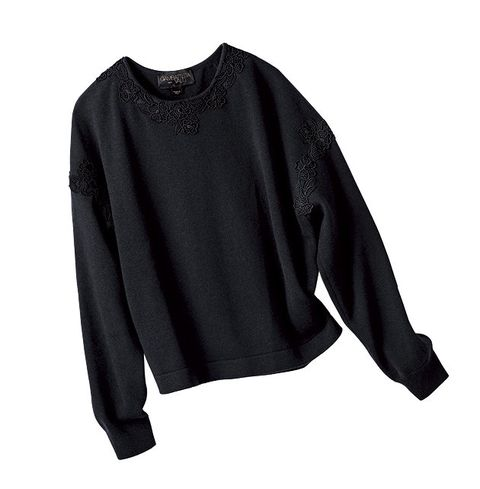 Clothing, Black, Sleeve, Blouse, Outerwear, Neck, Long-sleeved t-shirt, T-shirt, Top, Sweater,