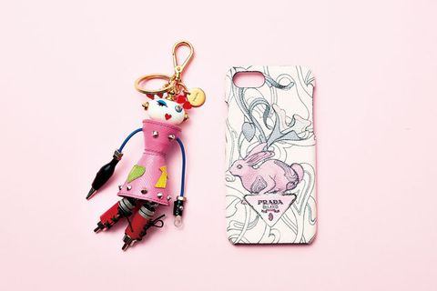 Keychain, Pink, Mobile phone accessories, Fashion accessory, Mobile phone case, Illustration, Fictional character, Jewellery, Style,