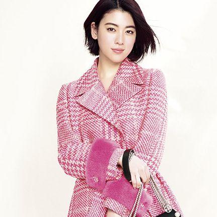 Clothing, Pink, Fashion model, Outerwear, Shoulder, Sleeve, Neck, Design, Dress, Pattern,