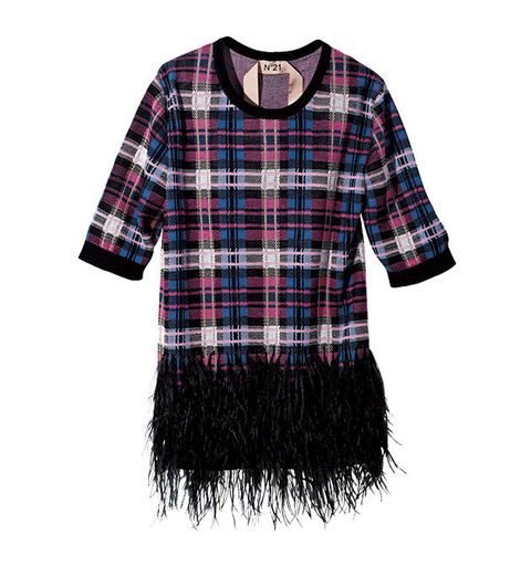 Plaid, Clothing, Tartan, Pattern, Sleeve, Textile, Design, Pink, T-shirt, Outerwear,