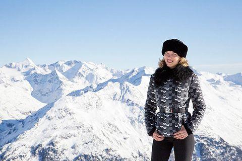 Mountainous landforms, Mountain, Snow, Winter, Beanie, Skin, Beauty, Sky, Freezing, Mountain range,