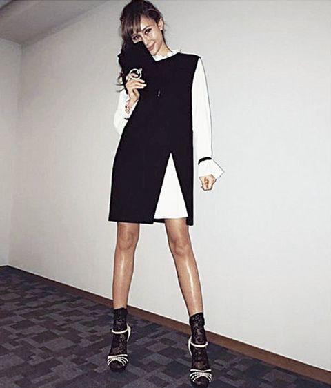 Clothing, Shoulder, Dress, Fashion, Footwear, Neck, Fashion model, Sleeve, Joint, Collar,