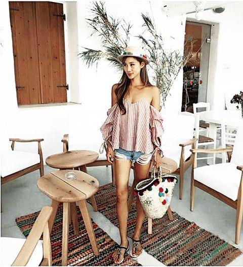 Clothing, Fashion, Shoulder, Room, Leg, Furniture, Waist, Photo shoot, Fashion design,