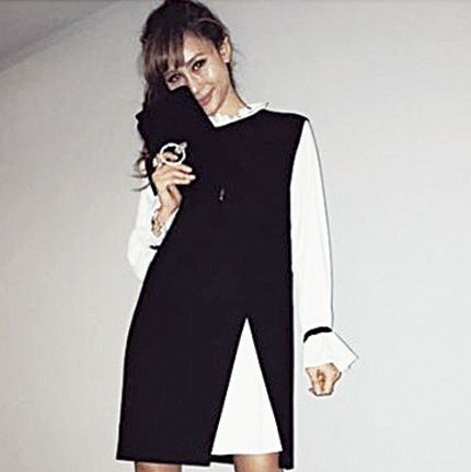 Clothing, Black, Shoulder, Sleeve, Fashion, Dress, Outerwear, Neck, Collar, Joint,