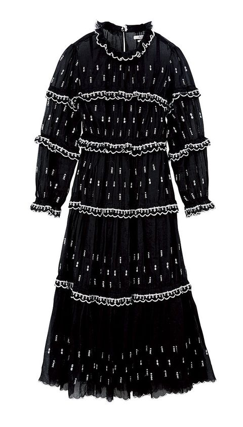 Clothing, Black, Day dress, Dress, Sleeve, Outerwear, Pattern, Cocktail dress,