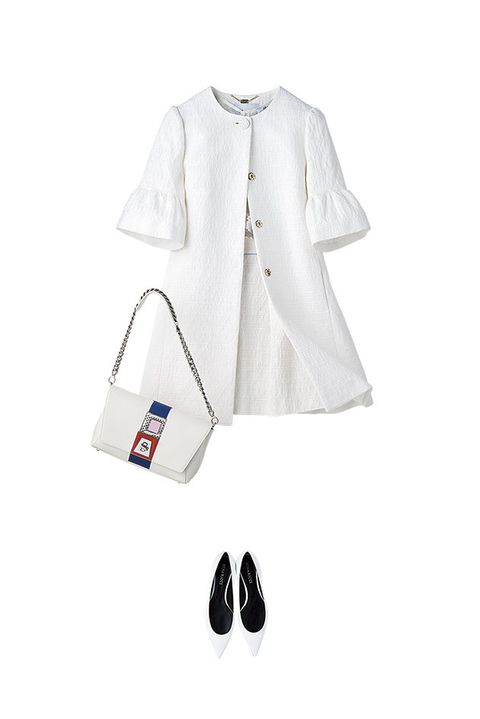 White, Clothing, Product, Sleeve, Uniform, Outerwear, Blouse, White coat, Footwear, Blazer,