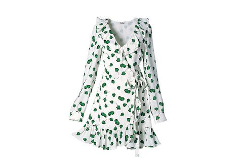 Clothing, Day dress, Green, Dress, Cover-up, Pattern, Sleeve, Pattern,