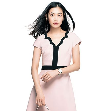 Clothing, White, Shoulder, Neck, Sleeve, Fashion model, Collar, Dress, Formal wear, Outerwear,