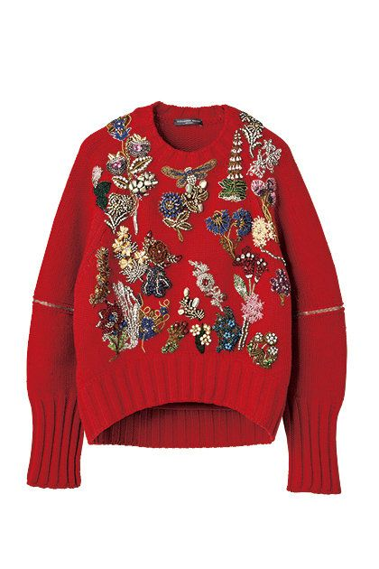 Clothing, Sleeve, Outerwear, Red, Sweater, Top, Long-sleeved t-shirt, T-shirt, Reindeer, Jacket,
