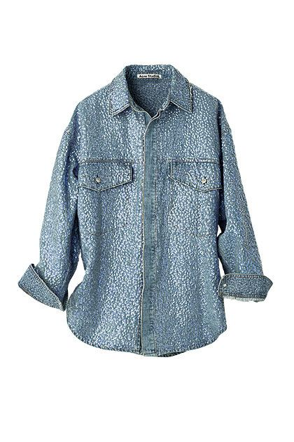 Clothing, Denim, Sleeve, Blue, Shirt, Outerwear, Jeans, Collar, Button, Blouse,