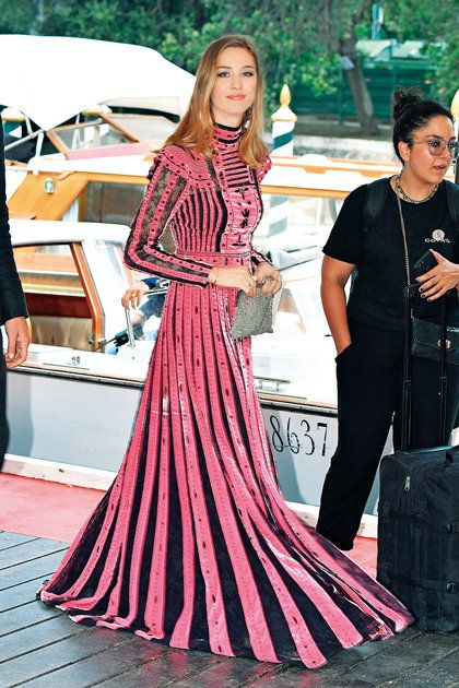 Clothing, Dress, Pink, Fashion, Fashion model, Gown, Street fashion, Haute couture, Event, Formal wear,