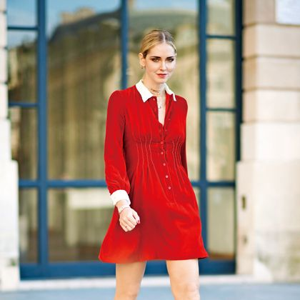 Fashion model, Clothing, Red, Street fashion, Fashion, Dress, Beauty, Cocktail dress, Footwear, Neck,