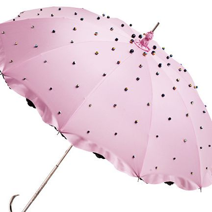 Umbrella, Pink, Leaf, Design, Pattern, Fashion accessory, Plant,