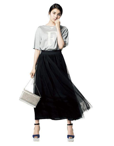Clothing, Fashion model, White, Black, Dress, Shoulder, Fashion, Sleeve, Waist, Neck,