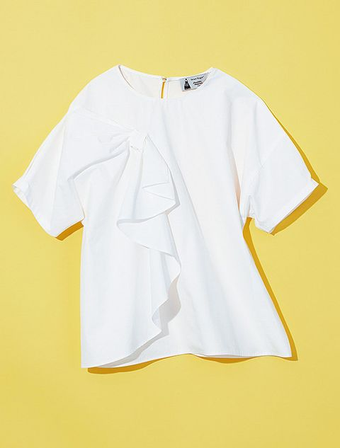 White, Clothing, Yellow, Product, Sleeve, T-shirt, Blouse, Top, Neck, Outerwear,