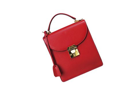 Handbag, Bag, Red, Fashion accessory, Kelly bag, Leather, Shoulder bag, Material property, Coquelicot, Luggage and bags,
