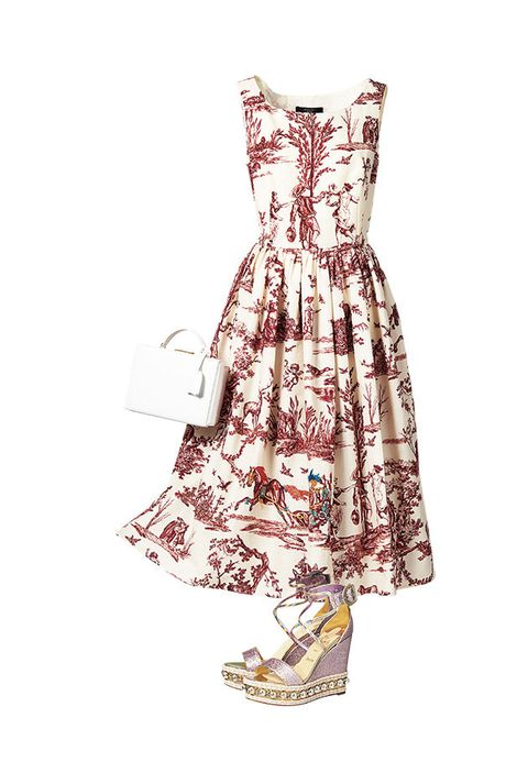 Dress, Clothing, Day dress, White, Cocktail dress, Strapless dress, Pattern, Textile, Pattern, One-piece garment,
