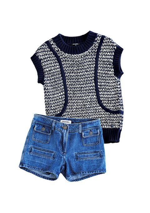 Clothing, Blue, Outerwear, Product, Shorts, Denim, Sleeve, Crop top, Jeans, Textile,