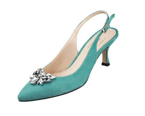 Footwear, Slingback, High heels, Turquoise, Shoe, Bridal shoe, Basic pump, Court shoe, Fashion accessory, Dress shoe,