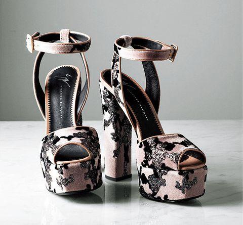 Footwear, High heels, Shoe, Basic pump, Sandal, Leg, Beige,
