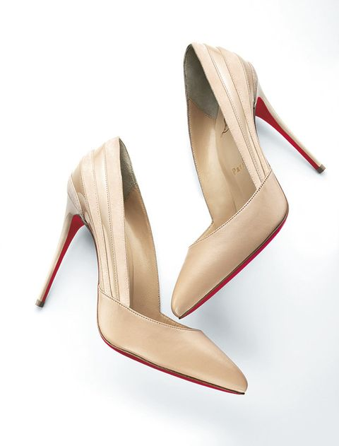 Footwear, High heels, Shoe, Beige, Court shoe, Basic pump, Slingback, Leg, Bridal shoe,