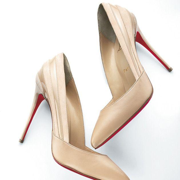 Footwear, High heels, Shoe, Beige, Basic pump, Slingback, Court shoe, Leg,