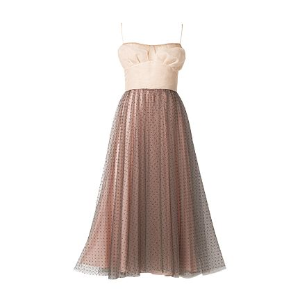 Dress, Clothing, Gown, Strapless dress, A-line, Bridal party dress, Day dress, Brown, Cocktail dress, Formal wear,