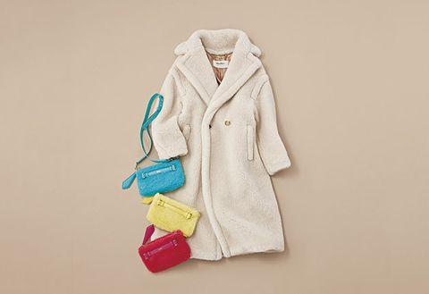 White, Clothing, Outerwear, Yellow, Fashion, Coat, Robe, Sleeve, Overcoat, Trench coat,