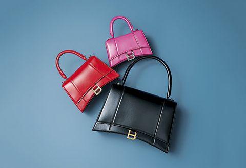 Handbag, Bag, Birkin bag, Fashion accessory, Red, Pink, Leather, Kelly bag, Material property, Shoulder bag,