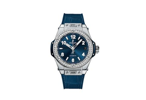 Watch, Analog watch, Watch accessory, Strap, Blue, Fashion accessory, Jewellery, Brand, Material property, Electric blue,