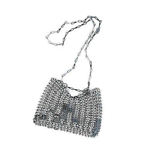 Bag, White, Handbag, Shoulder bag, Hobo bag, Fashion accessory, Design, Font, Black-and-white, Pattern,