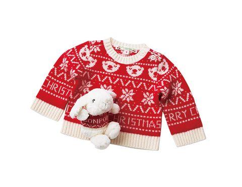 Clothing, Sweater, Wool, Sleeve, Outerwear, Red, Reindeer, Jersey, Top, Deer,