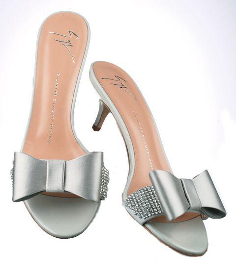 Footwear, Sandal, Shoe, Slipper, Bridal shoe, Beige, Leg, High heels, Slingback, Silver,